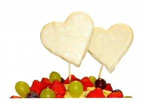 Srdce z ananásu a čokolády